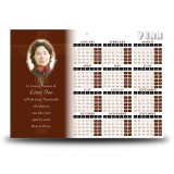 Wooden Cross Calendar Single Page