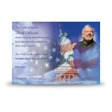 Statue of Liberty Acknowledgement Card