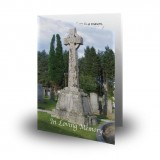 Celtic Church Folded Memorial Card