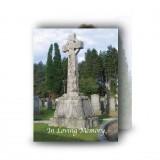Celtic Church Standard Memorial Card