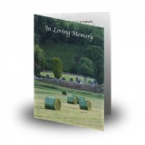 Bailing Folded Memorial Card