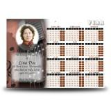 Guitar Calendar Single Page