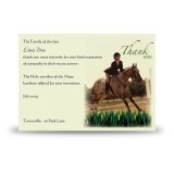 Showjumping Acknowledgement Card
