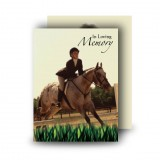 Showjumping Standard Memorial Card