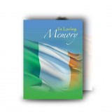 Irish Flag Standard Memorial Card