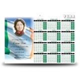 Irish Flag Calendar Single Page