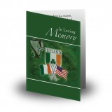 Irish American Folded Memorial Card