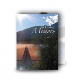 Lake Cruise The Rockies Canada Standard Memorial Card