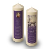 Skiing Sweden Candle