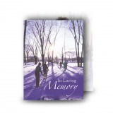 Skiing Sweden Standard Memorial Card
