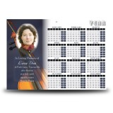 Violin Calendar Single Page