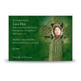 Irish Celtic Cross Acknowledgement Card