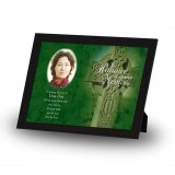 Irish Celtic Cross Framed Memory