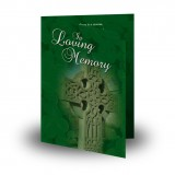Irish Celtic Cross Folded Memorial Card