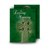 Irish Celtic Cross Standard Memorial Card