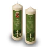 Snowdrops Candle