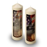 USA Baseball Candle