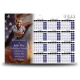 USA Baseball Calendar Single Page