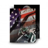 USA Football Standard Memorial Card