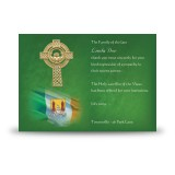 Irish Flag And Family Crest Acknowledgement Card