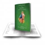 Irish Flag And Family Crest Funeral Book