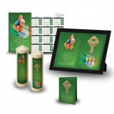 Irish Flag And Family Crest Wall Package