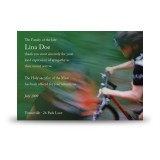Mountain Biking Acknowledgement Card