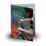Mountain Biking Folded Memorial Card