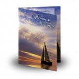 Sunset Sailing Folded Memorial Card