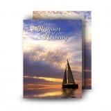 Sunset Sailing Standard Memorial Card