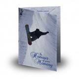 Snowboarding Folded Memorial Card