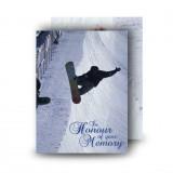 Snowboarding Standard Memorial Card