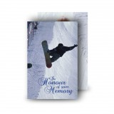 Snowboarding Wallet Card