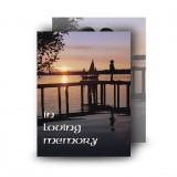 A Peaceful Sunrise Standard Memorial Card