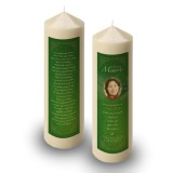 Irish American Flag Candle