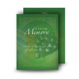 Irish American Flag Standard Memorial Card