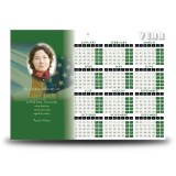 Irish American Flag Calendar Single Page