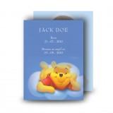 Winnie The Poo Boy Standard Memorial Card
