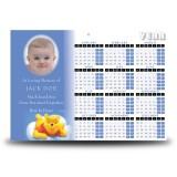 Winnie The Poo Boy Calendar Single Page