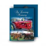Vintage Tractors Standard Memorial Card