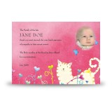 Winnie The Poo Girl Acknowledgement Card