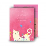 Winnie The Poo Girl Standard Memorial Card