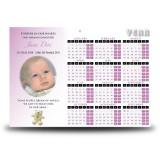 Teddybear Girl Calendar Single Page