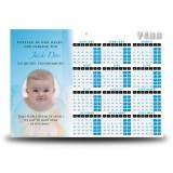 Teddybear Boy Calendar Single Page