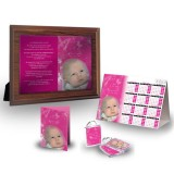 Girls Pink Butterfly Table Package