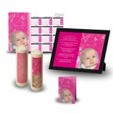 Girls Pink Butterfly Wall Package