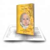 Disney Child Girl Funeral Book