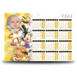 Disney Child Girl Calendar Single Page