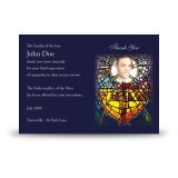 Stained Glass The Eucharist Acknowledgement Card