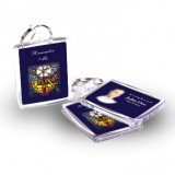 Stained Glass The Eucharist Keyring